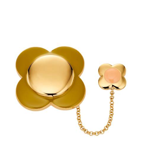 Orla Kiely Daisy Gold Chain Flower Brooch