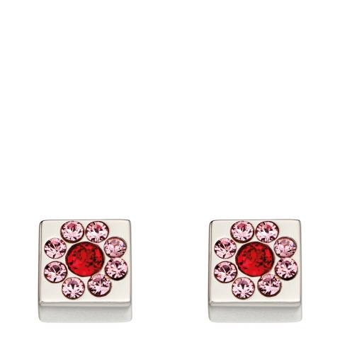Orla Kiely Silver Swarovski Flower Cube Studs