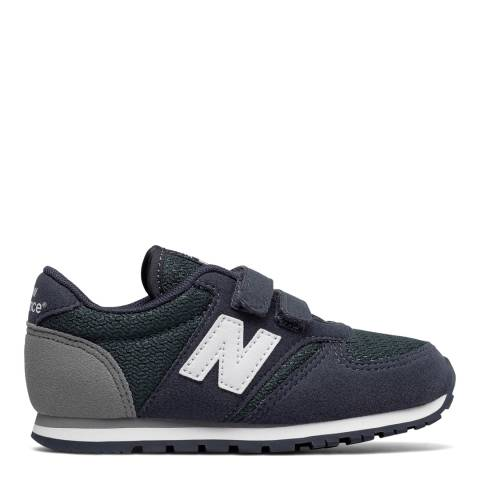 New Balance Kids Navy Q317 Material Up Velcro Trainers