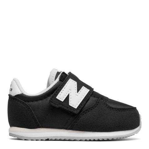 New Balance Kids Black 220v1 Suede/Mesh Trainers