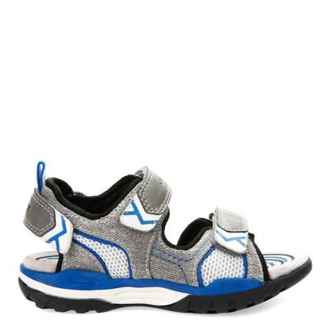 Geox Grey/Blue J Borealis Sandals