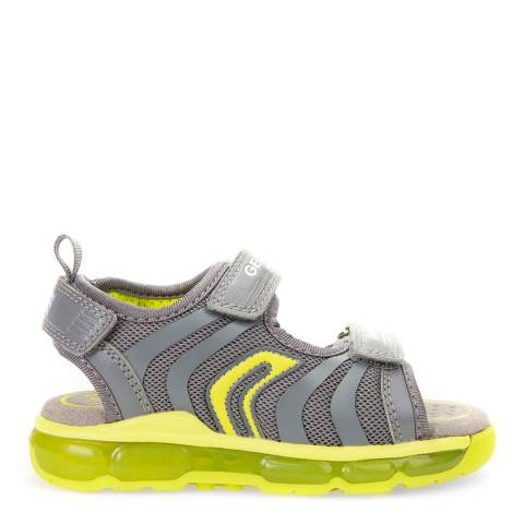 Geox Grey/Lime J S.Android Sandals