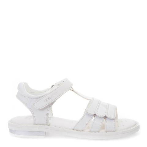 Geox White J S.Giglio Sandals