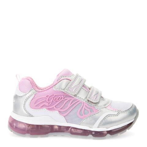Geox Silver/Pink J Android Trainers
