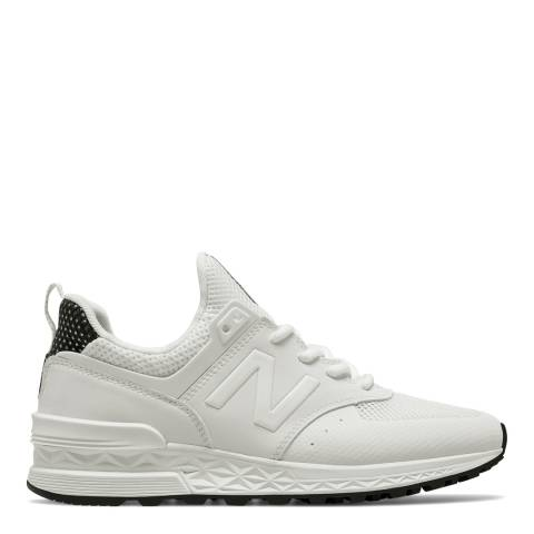 New Balance Women's White Leather 574 Trainers