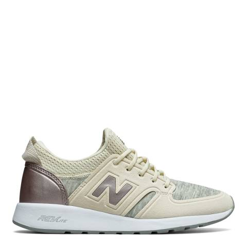 New Balance Women's Beige Suede 420 Trainers