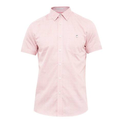 Ted Baker Light Pink Munkee Diamond Printed Shirt
