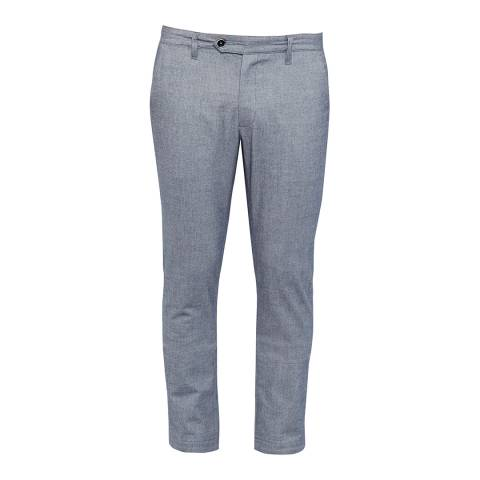 Ted Baker Blue Curlong Slim Fit Mini Design Trousers