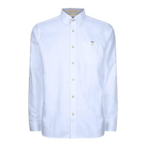 Ted Baker Baby Blue Laavato Linen Shirt