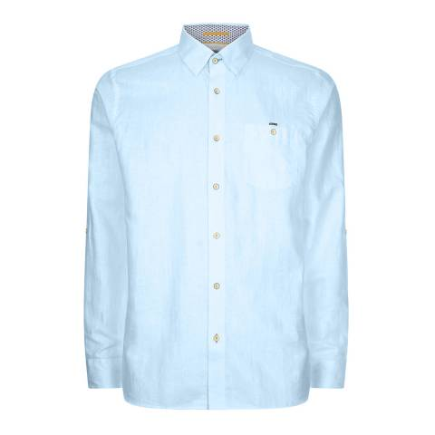 Ted Baker Bright Blue Laavato Linen Shirt