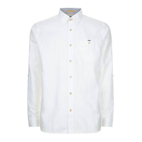 Ted Baker White Laavato Linen Shirt