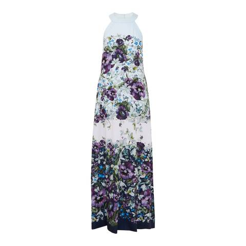 Ted Baker Dark Blue Ziloh Enchantment Bow Maxi Dress