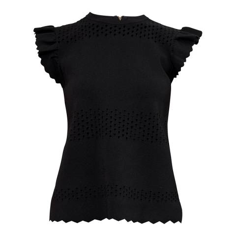 Ted Baker Black Jesile Stitch Detail Top
