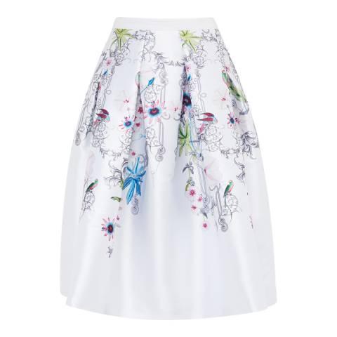 Ted Baker Ivory Petale Passion Flower Full Skirt