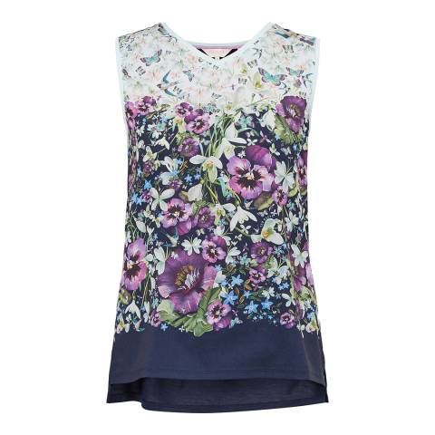 Ted Baker Dark Blue Fatile Enchantment Vest Tee