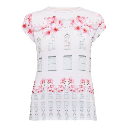 Ted Baker Baby Pink Jessah Window Box Fitted Tee