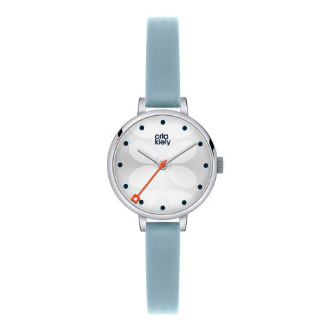 Orla Kiely Silver/Blue Slim Strap Quartz Watch