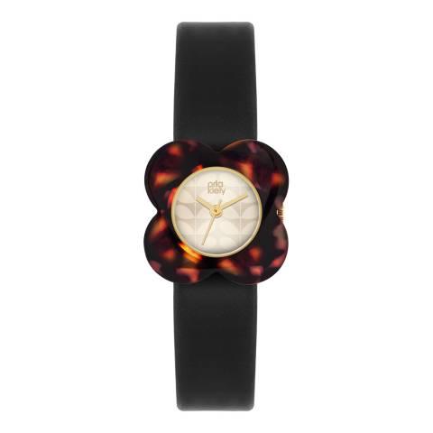 Orla Kiely Cream/Black/Tortoiseshell Quartz Flower Watch