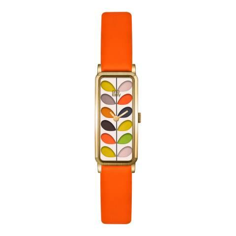 Orla Kiely Orange/Multi Quartz Slim Watch