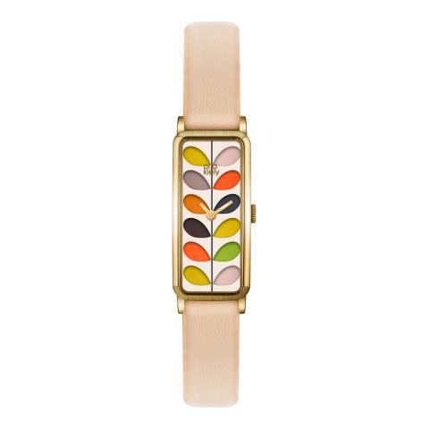 Orla Kiely Cream/Multi Quartz Slim Watch