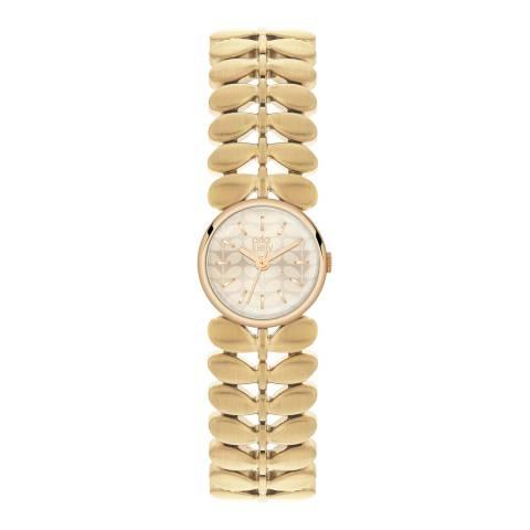 Orla Kiely Silver/Gold Quartz Leaf Watch