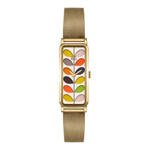 Orla Kiely Multi Gold Plated Quartz Watch