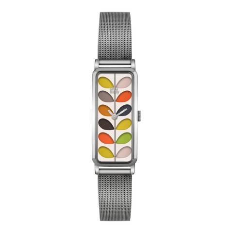 Orla Kiely Silver/Multi Stainless Steel Quartz Watch