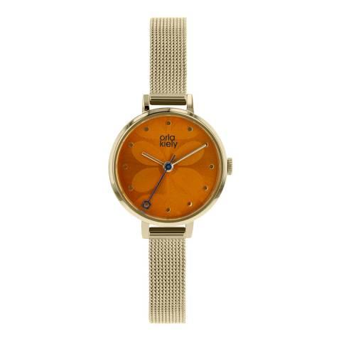 Orla Kiely Orange/Gold Quartz Watch