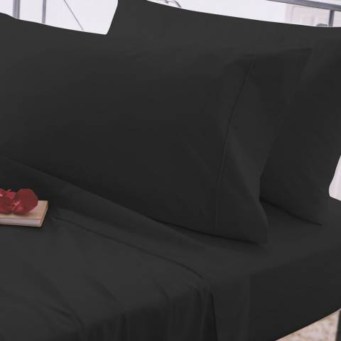 Belledorm Egyptian Cotton Double Fitted Sheet, Black