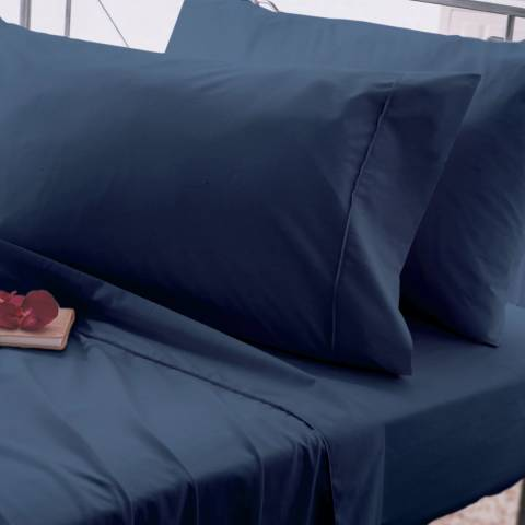 Belledorm Egyptian Cotton King Fitted Sheet, Navy