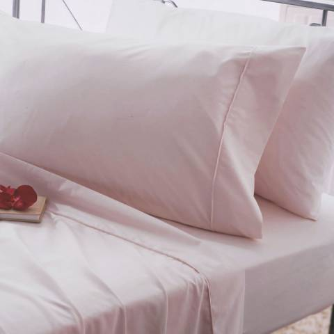 Belledorm Egyptian Cotton Double Fitted Sheet, Powder Pink
