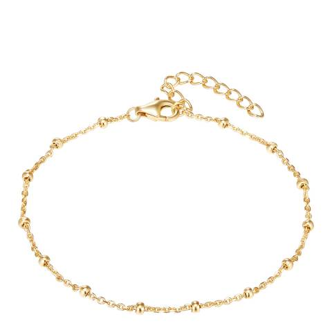 Carat 1934 Yellow Gold Sterling Silver Bracelet