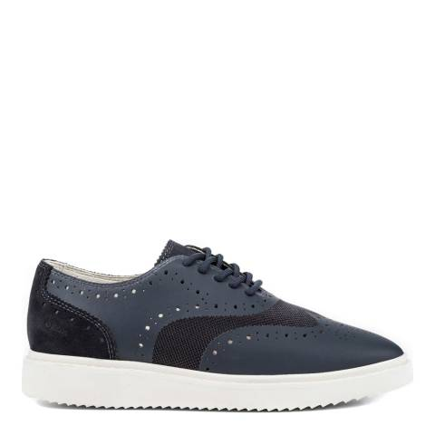 Geox Women's Navy Leather/Net Formal Trainers