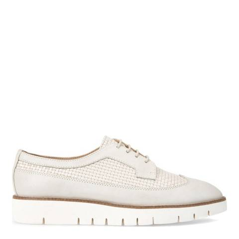 Geox Women's Pearl Grey Leather Lace Up Shoes