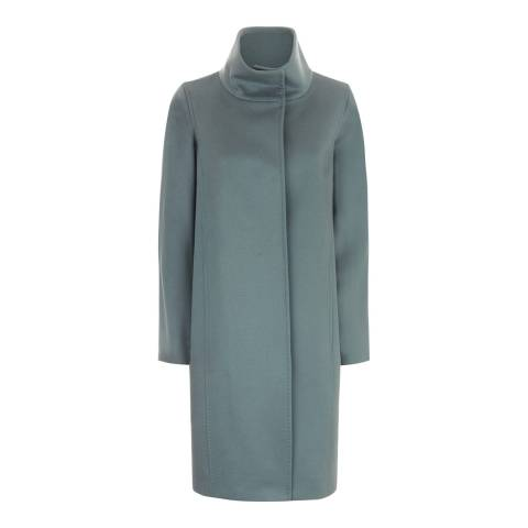 Jaeger Blue Wool Cocoon Coat