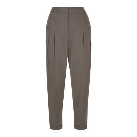 Jaeger Grey Tencel Drape Trousers
