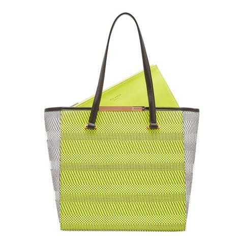 Ted Baker Womens Green Woven Natasha Large Shopper