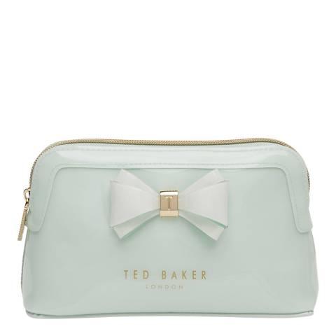 Ted Baker Womens Green PVC Aimee Make-Up Bag