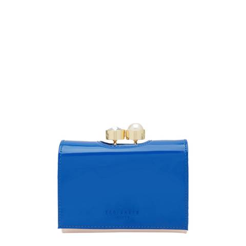 Ted Baker Womens Blue Leather Alix Pearl bobble Small Purse