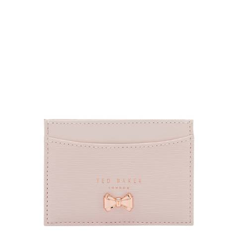 Ted Baker Womens Pink Leather Cilinir Card Holder