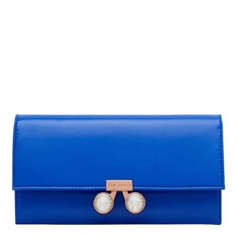 Ted Baker Womens Blue Leather Eleni Crystal Bobble Purse