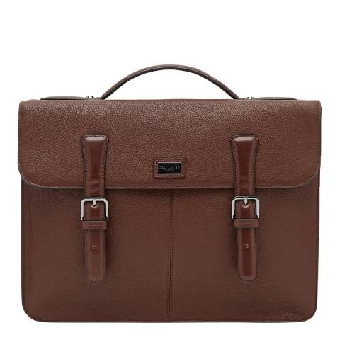Ted Baker Mens Tan Leather Bengal Satchel
