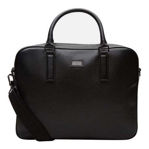 Ted Baker Mens Black Leather Carcal Document Bag