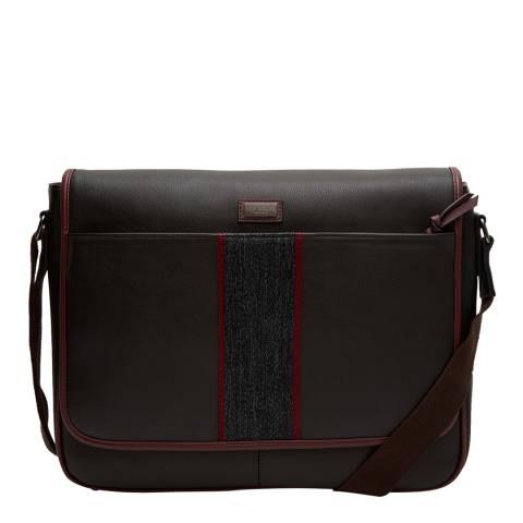 Ted Baker Mens Black Leather  Smithy Bag