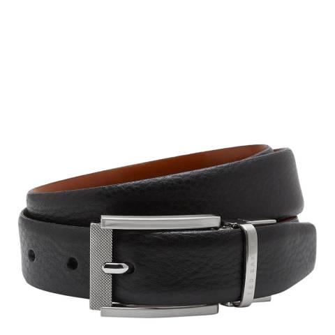 Ted Baker Mens Black Reversible Leather Reva Belt
