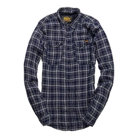 Superdry Indigo Plaid Roadster Denim Shirt
