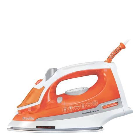 Breville Orange/White Steam Iron