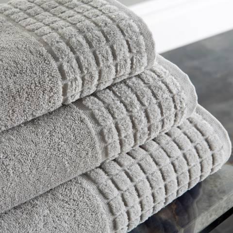 Behrens Spa Pair of Hand Towels, Grey
