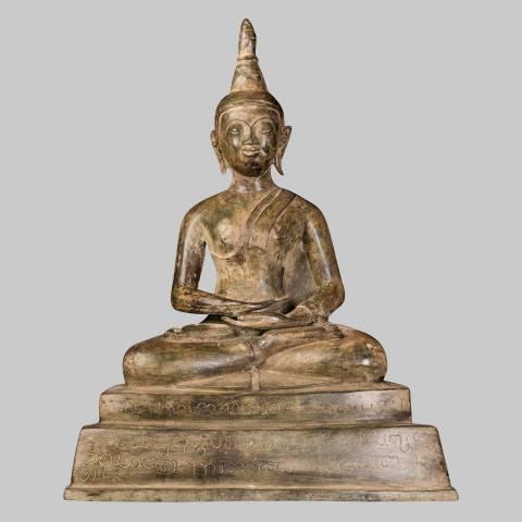 Eastern Treasures 18th Century Laos Meditation Buddha