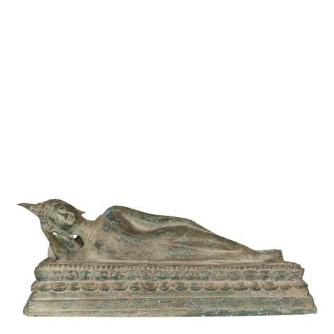 Eastern Treasures 19th Century Thai Sukhothai Reclining Nirvana Buddha Statue